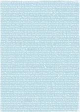 RBC020 Ljusblå text