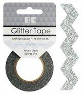 GTD101 Glittertape Chevron Silver