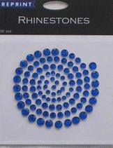 R0704 Blue Rhinestones