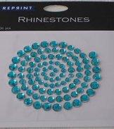 R0703 Turkos Rhinestones