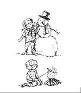 AT008 Pojke med snögubbe
