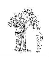 AT019 Kvinna som klipper träd