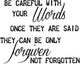 OM961 G Be careful whith your words