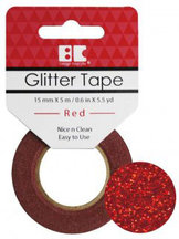 GTS003 Glittertape  Röd