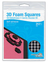 01615-10 3D Foam Squares Black
