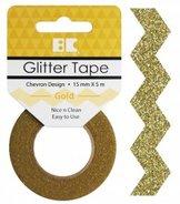 GTD102 Glittertape Chevron Gold