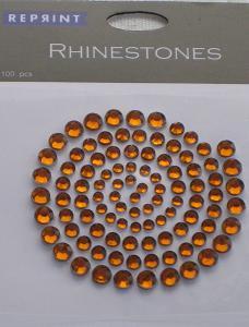 R0776 Guld Rhinestones