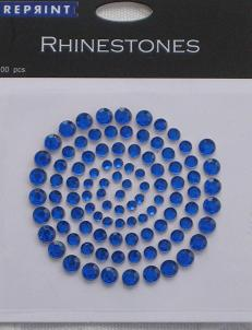 R0704 Blå Rhinestones