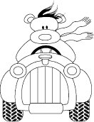 OM2101 E Teddy kör bil