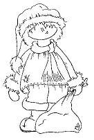 OM2156 E Pojke med julsäck